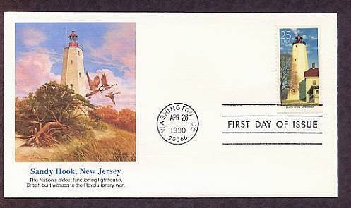 Sandy Hook Lighthouse, Oldest in USA, Atlantic City FW First Issue USA