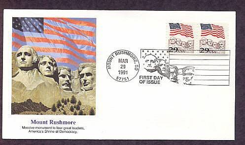 Mount Rushmore, American Flag, First Issue USA