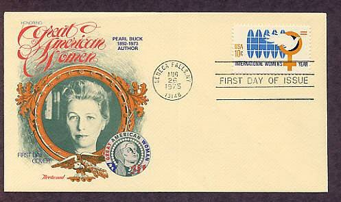 International Women's Year, Pearl S. Buck, First Issue USA