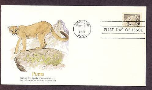 Puma Cat, American Wildlife, First Issue USA