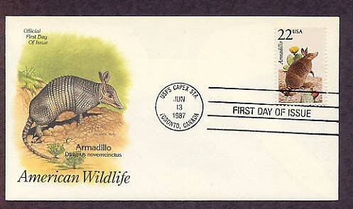 Armadillo, North American Wildlife, First Issue USA