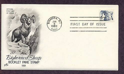 Bighorned Sheep, First Issue USA