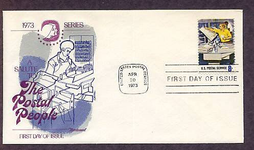 Honoring USPS Postal People, Stamp Counter, First Issue USA