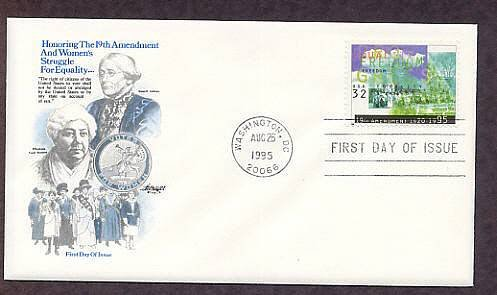 19th Amendment, Susan B. Anthony, Woman Suffrage, AM 1995 First Issue USA