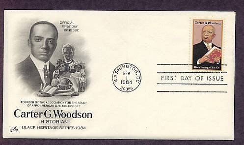 Black History, Carter G. Woodson, Historian, First Issue USA