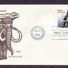 Prehistoric Animals,  Woolly Mammoth, First Issue USA