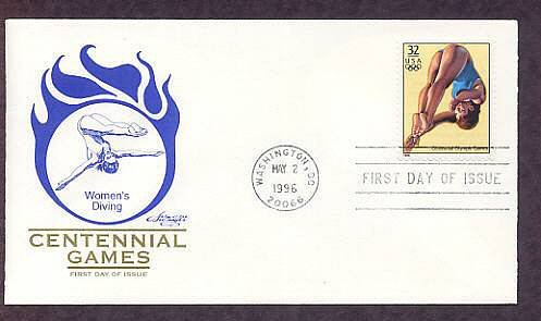 Atlanta 1996 Centennial Olympic Games, Women's Diving, First Issue USA