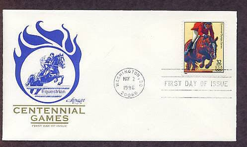 Atlanta 1996 Centennial Olympic Games, Equestrian, First Issue USA