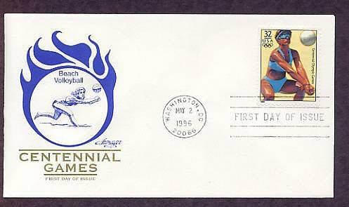 Atlanta 1996 Centennial Olympic Games, Beach Volleyball, First Issue USA