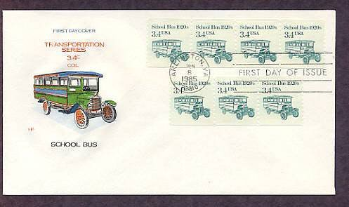 School Bus 1920s, Transportation Series, First Issue USA
