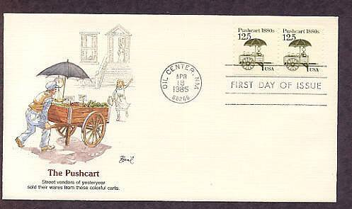 Pushcart 1880s, Transportation Series, First Issue USA