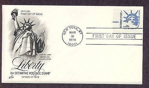 Statue of Liberty, National Monument, 1978 First Day of Issue USA