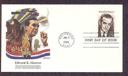 Honoring Edward R. Murrow, Broadcast Journalist, Fleet. First Issue USA
