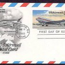 Douglas DC-3, Airmail Postal Card, First Issue USA