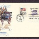 Horse Drawn Omnibus 1880s, Predecessor of the Modern Bus, First Issue USA