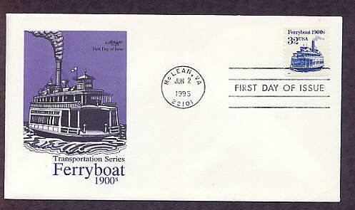 Ferryboat 1900s, First Issue USA