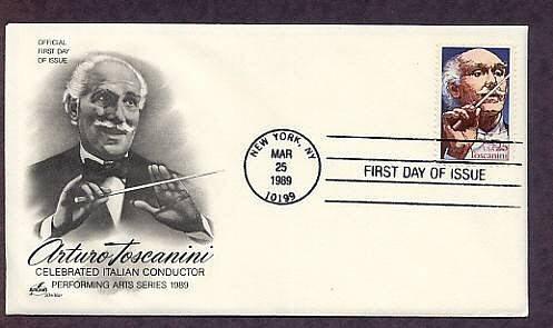 Honoring Italian Conductor Arturo Toscanini, Internationally Recognized Great Conductor, AC FDC, USA