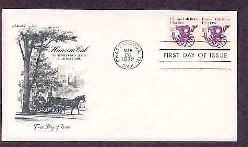 Horse Drawn Hansom Cab 1890s , AM First Issue USA