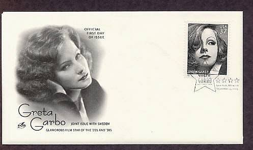 Honoring Swedish Hollywood Actress Greta Garbo, First Issue FDC USA