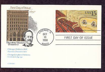 Chicago Orchestra Hall, Home of the Chicago Symphony Orchestra, Postal Card USA