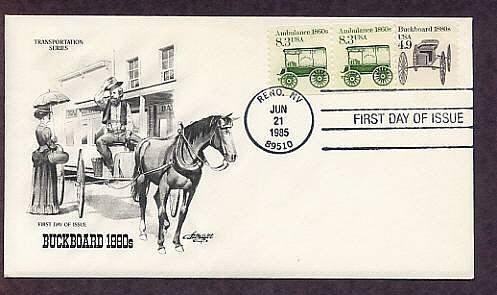 Horse Drawn Buckboard 1880s, AM First Issue USA