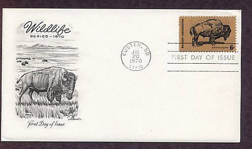 American Bison, Buffalo, The Monarch of the Plains, AM First Issue USA