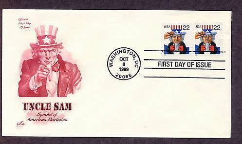 Uncle Sam, Symbol of American Patriotism, First Issue USA