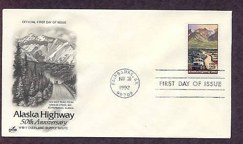 50th Anniversary Alaska Highway, First Issue USA