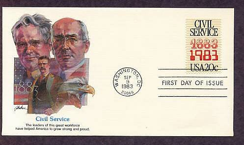 Civil Service, 100th Anniversary, First Issue USA