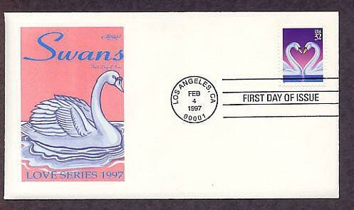 1997 USPS Love Stamp, Swans, First Issue USA