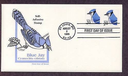 Blue Jay, Cyanocitta cristata, First Issue USA