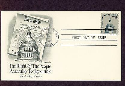 """""""Right of People Peaceably to Assemble"""", Capitol Dome, First Issue USA"""