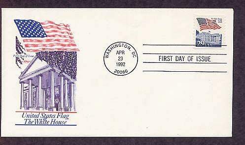 American Flag, White House,  First Issue USA