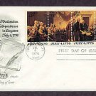 Declaration of Independence, Bicentennial, AM First Day Cover, 1976 USA