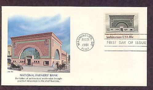 Architecture, National Farmer's Bank, Louis Sullivan, First Issue USA
