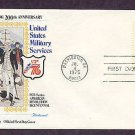 Bicentennial Revolutionary War Uniforms, Continental Navy, First Day Issue Cover, 1975 USA