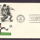 1980 Moscow Olympics, Soccer, Postage Stamp Embossed Envelope, First Issue USA