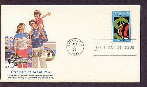 50th Anniversary of the Federal Credit Union Act, Fleet. FDC First Issue USA