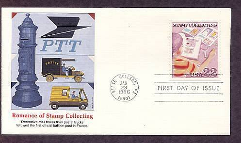 Stamp Collecting, Early Mail Box and Postal Trucks of France, First Issue FDC USA