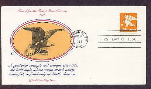 """Non-Denominated """"A"""" Issue, Bald Eagle, 1978 First Issue USA"""