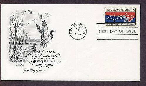 Migratory Bird Treaty between United States and Canada, Ducks, First Issue USA