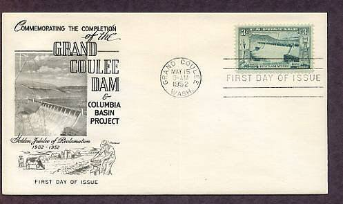 Grand Coulee Dam 1952 First Issue USA