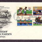 1980 Summer Olympics, Running, Swimming, Rowing, Equestrian, First Issue USA
