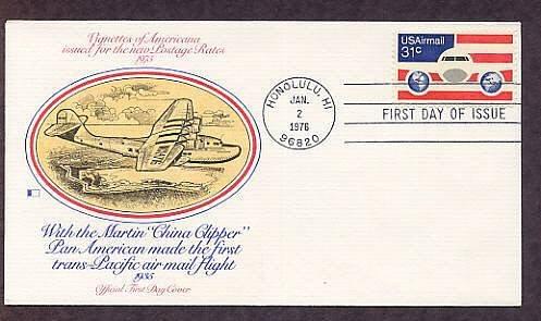 U.S. Airmail, China Clipper, Glenn L. Martin, First Issue FDC