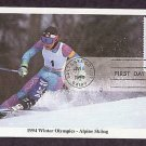 1994 Winter Olympics, Alpine Skiing, First Issue USA