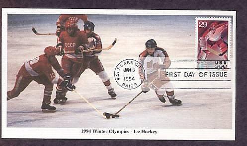 1994 Winter Olympics, Ice Hockey, First Issue USA