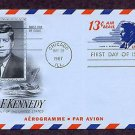 President John F. Kennedy, Air Letter Sheet, 1967 First Issue USA