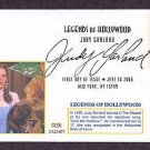 Honoring Hollywood Legend Judy Garland, Dorothy, Wizard of Oz, First Issue USA