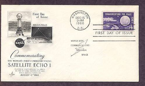 ECHO 1, First Communications Satellite, NASA, 1960 First Issue USA