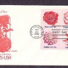 Flowers, Rose, Camellia, Dahlia, Lily, First Issue USA